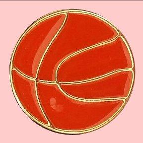 Orange Metal Basketball
