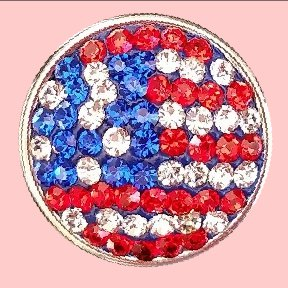 USA Flag in Rhinestones