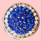 Blue Rhinestone with White Circle