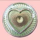 Pale Green Metal Heart