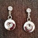 Mini Earrings with Rhinestone