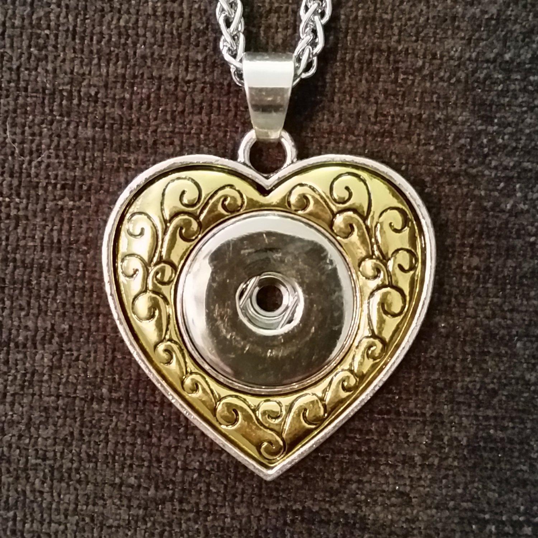 Rose Gold Heart Pendant 18 mm