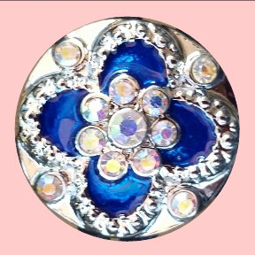 Blue Iridescent Snap