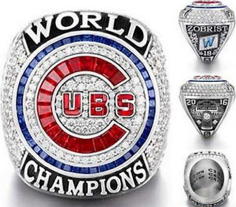 Chicago Cubs 2016 Championship Ring..Replica Alloy In Wooden Box