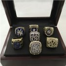 7pcs set 1977 1978 1996 1998 1999 2000 2009 New York Yankees Championship Rings With Wooden Boxes