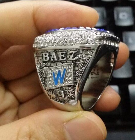 2016 Chicago Cubs Championship Ring.. Javier Baez Ring
