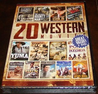 20 Western Movies On 4 DVD Discs (New Unopened)