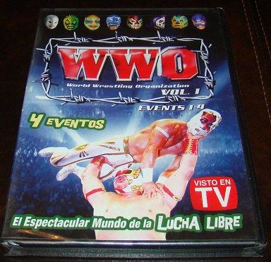 WWO Vol. 1 4 Eventos Spanish Luchador Wrestling DVD (New Unopened)