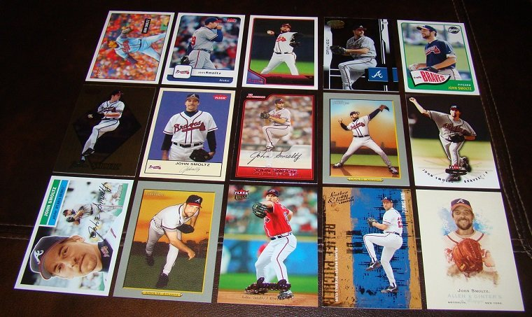 John Smoltz 25 Different Baseball Cards Lot Atlanta Braves HOFer