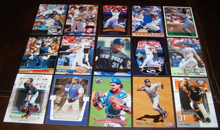 Mike Piazza 25 Different Baseball Cards Lot Mets/Dodgers HOFer