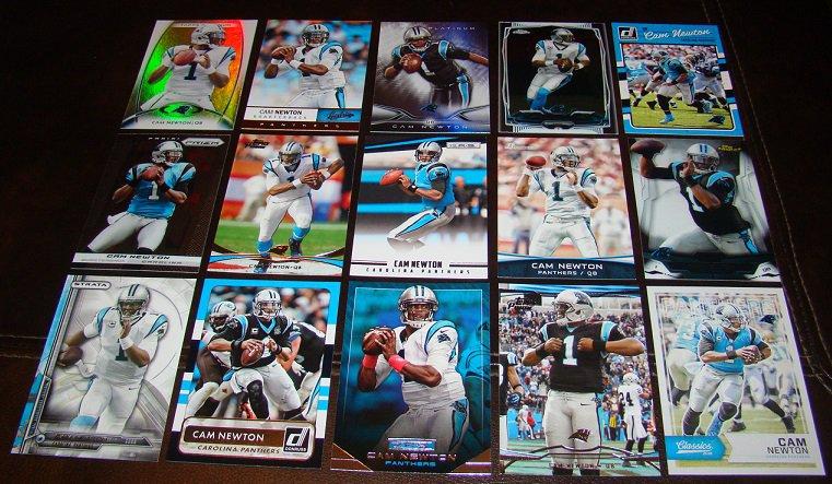 Cam Newton 25 Different Football Cards Lot Carolina Panthers