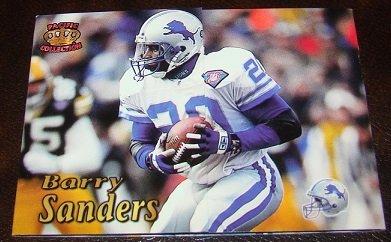 Barry Sanders 1995 Pacific Triple Folders Insert Football Card Detroit Lions
