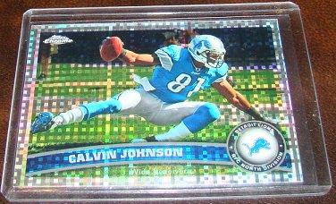 Calvin Johnson 2011 Topps Chrome Atomic Refractor Football Card Detroit Lions