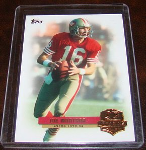 Joe Montana 2012 Topps QB Immortals Insert Football Card San Francisco 49ers