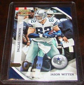 """Jason Witten 2010 Donruss Gridiron Gear """"O"""" Parallel Football Card Serial # 38/100"""