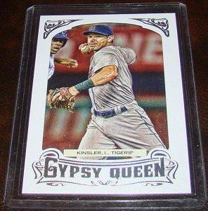 Ian Kinsler 2014 Gypsy Queen Framed Silver Parallel Baseball Card