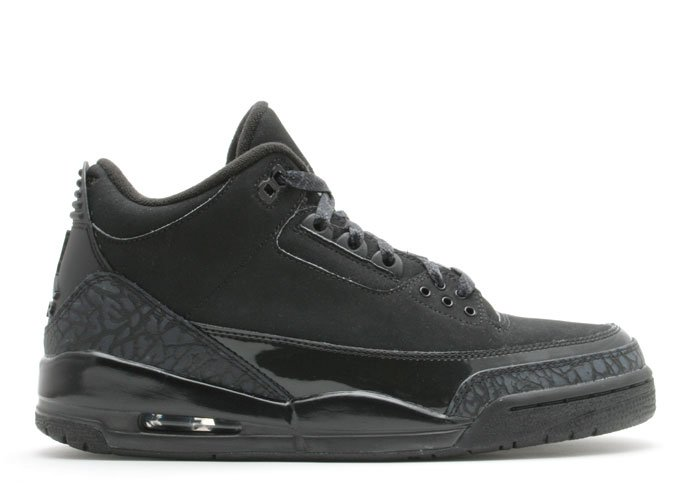 "Air Jordan 3  -  ""black cat"" black/dark charcoal-black"