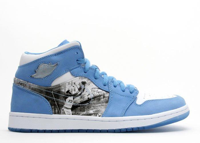 Air Jordan 1 -  white/university blue