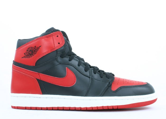 Air Jordan 1  -  black/varsity red