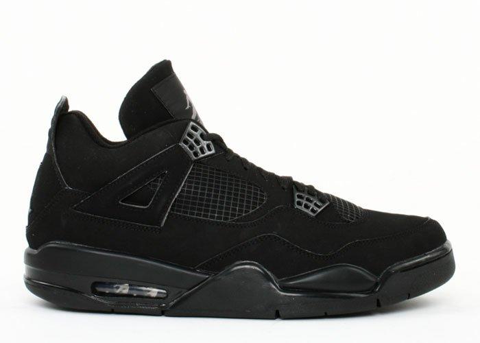 "Air Jordan 4 - ""black cat"" black/black-light graphite"