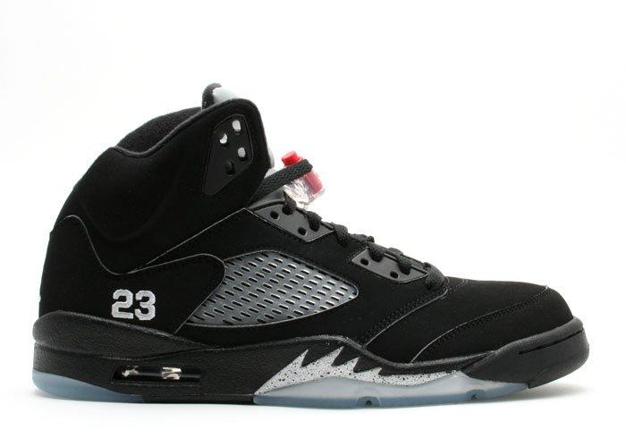 Air Jordan 5 - black/metallic silver-fire red