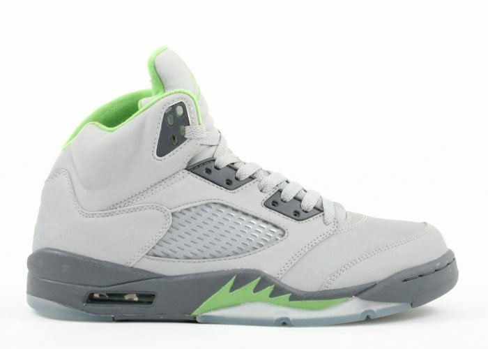 Air Jordan 5 - silver/green bean-flint grey