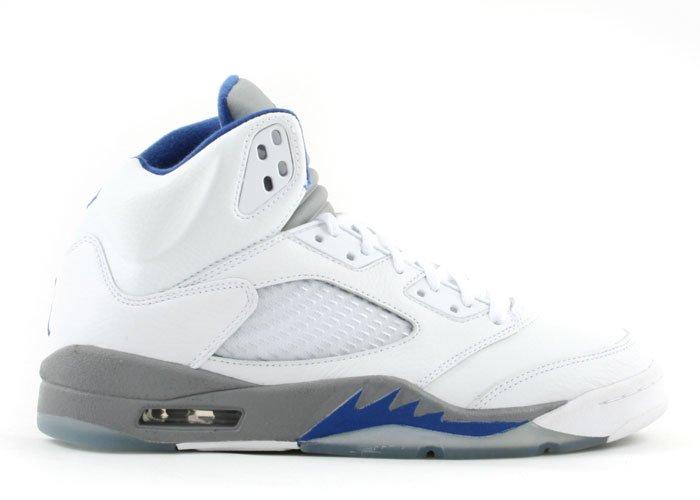 Air Jordan 5 -  white/sport royal-stealth