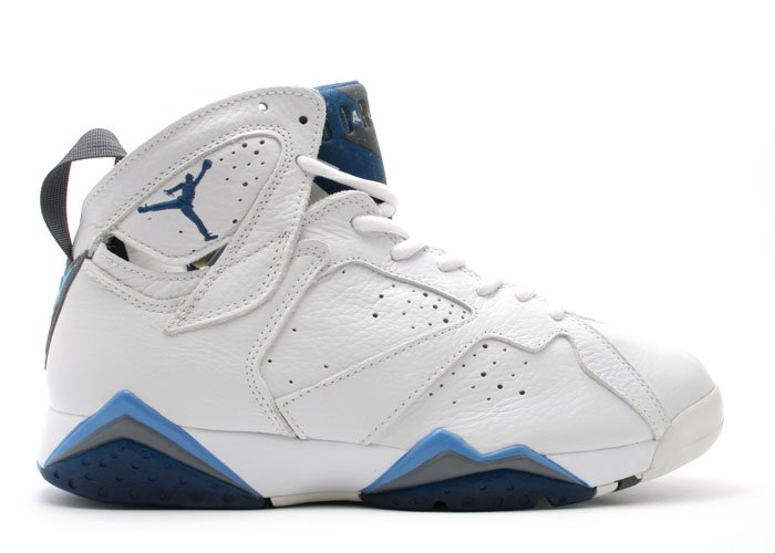 Air Jordan 7 - white/french blue-flint grey