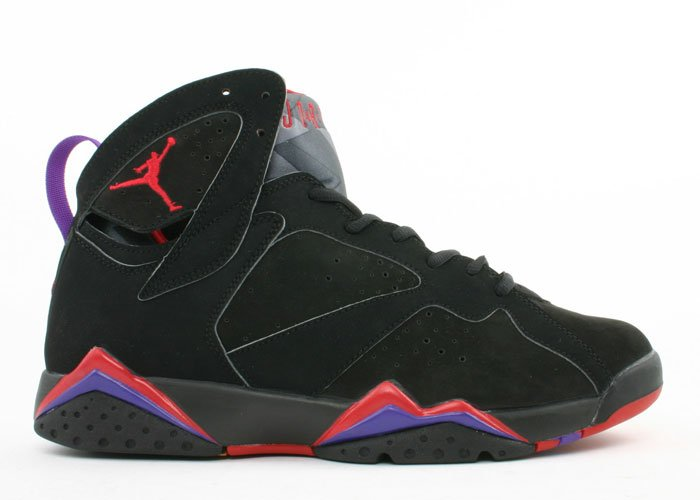 Air Jordan 7 - black/dark charcoal-true red