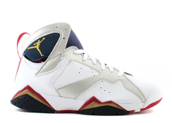"Air Jordan 7 - ""olympic"" white/metallic gold-midnight navy-true red"