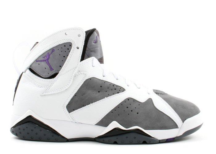 Air Jordan - white/varsity purple-flint grey