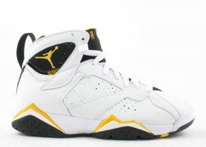 WOMENS Air Jordan 7 - white/varsity maize-black