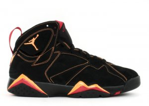 Air Jordan 7 - black/citrus-varsity red