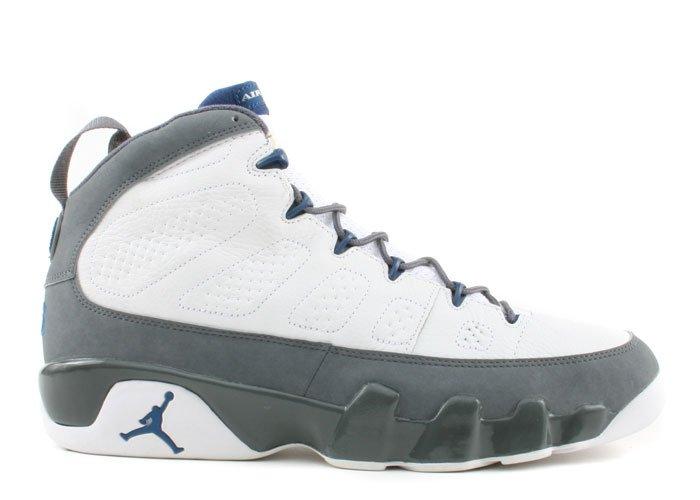 Air Jordan 9 - white/french blue-flint grey