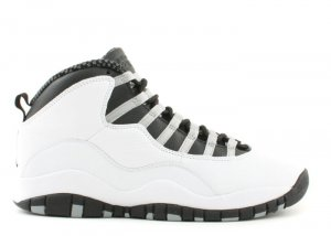 Air Jordan 10 - white/black-light steel grey-varsity red