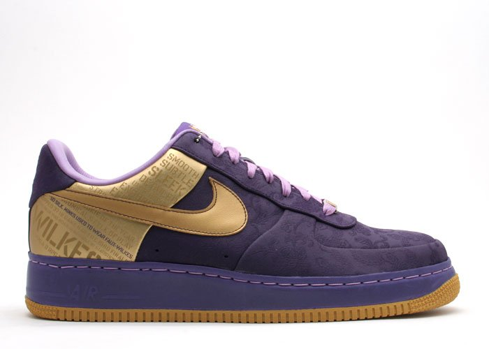 "Air Force One Low - ""original six"" quasar purple/metallic gold-orchid"