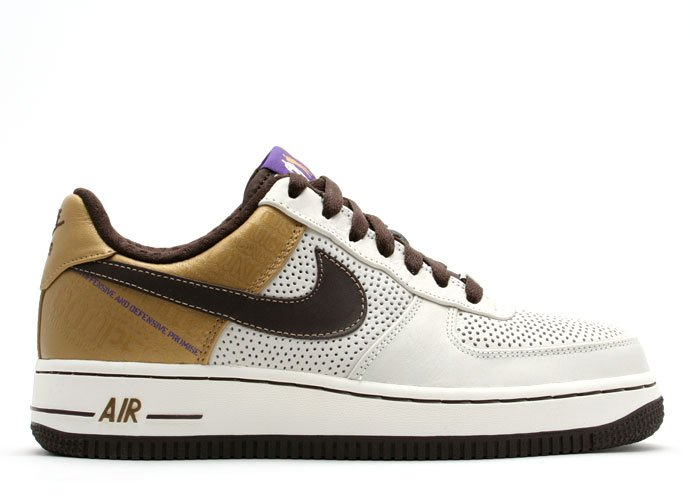 """Air Force One Low - """"michael cooper"""" sail/baroque brown-metallic gold"""