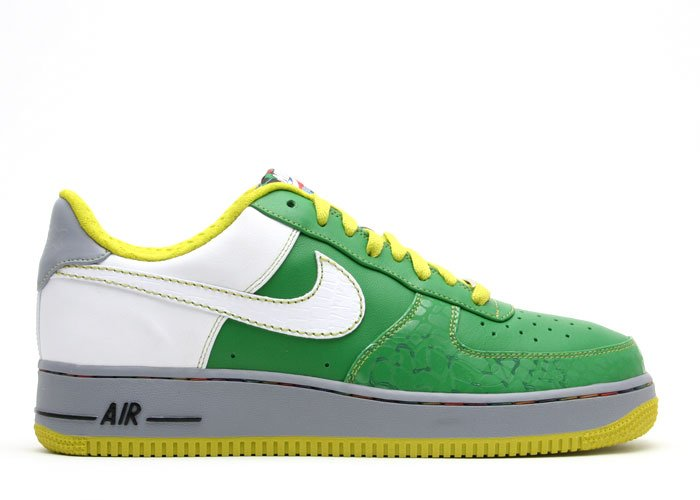 Air Force One Low - classic green/white-radiant green-stealth