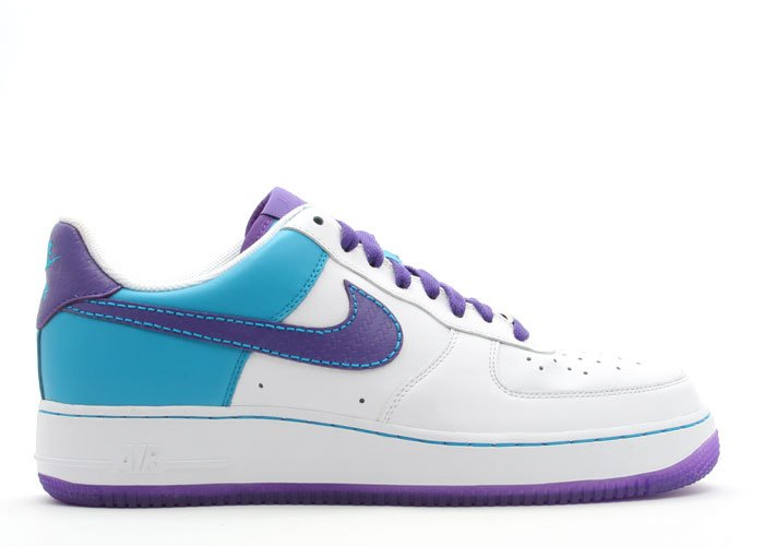 Air Force One Low - white/varsity purple-laser blue