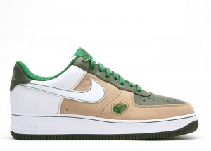Air Force One Low - hay/white-army olive-pine green