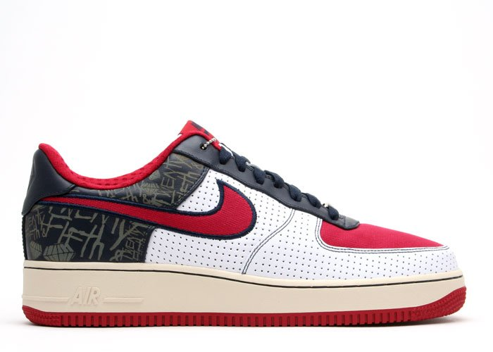 Air Force One Low - white/varsity red-obsidian-pearl white