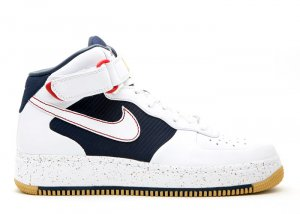 "Air Force One Mid - ""barkley pack"" white/white-midnight navy-varsity red"