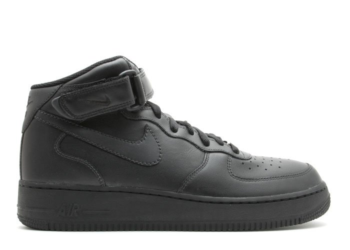 Air Force One Mid - black/black-black
