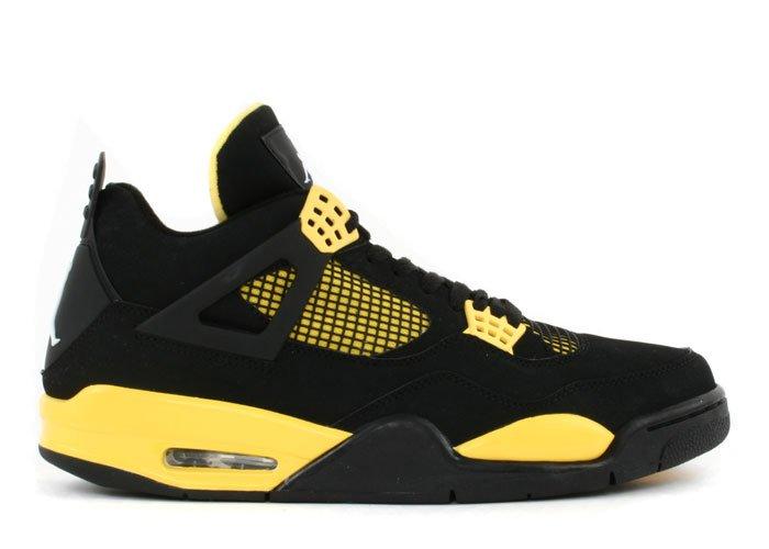"Air Jordan 4 - ""thunder"" black/tour yellow-white"