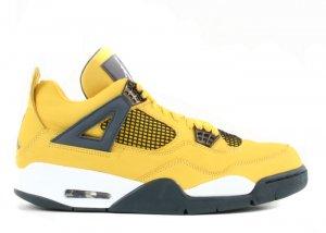 """Air Jordan 4 - """"lightning"""" tour yellow/dark blue-grey-white"""