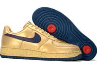 Air Force One Low - metallic gold / midnight navy