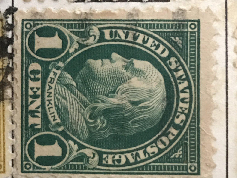 1923 Rare 1 Cent Franklin Postage Stamp