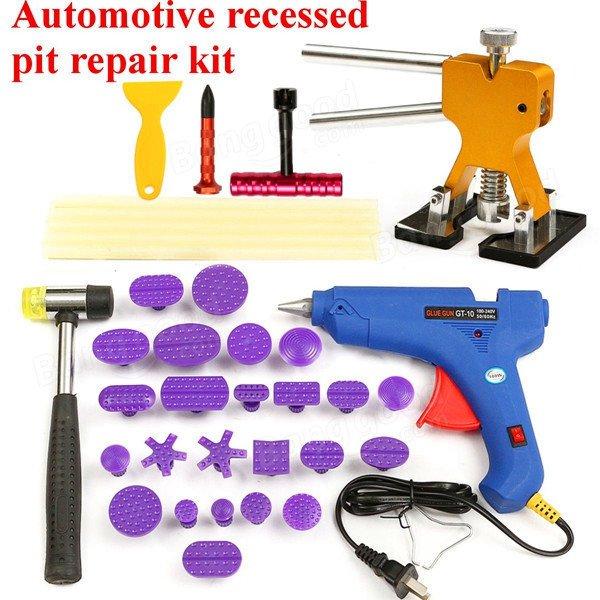 35pcs PDR Car Body Dent Repair Kit Hammer Puller Glue Gun Balance Bridge Scraper