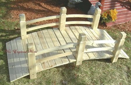BRIDGE CEDAR Wood Garden Yard Pond 5 Foot