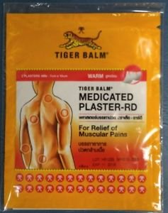 Tiger balm Medicated Plaster warm pain relief 7 cm x 10 cm 4 pack 8 patches